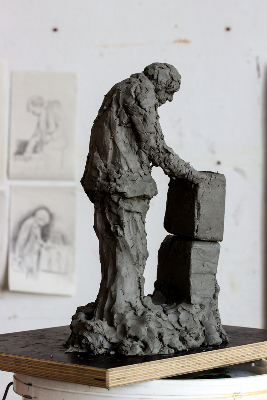 MES amp 2020 - 30 x 17 x 12cm, plasticine model for future casts