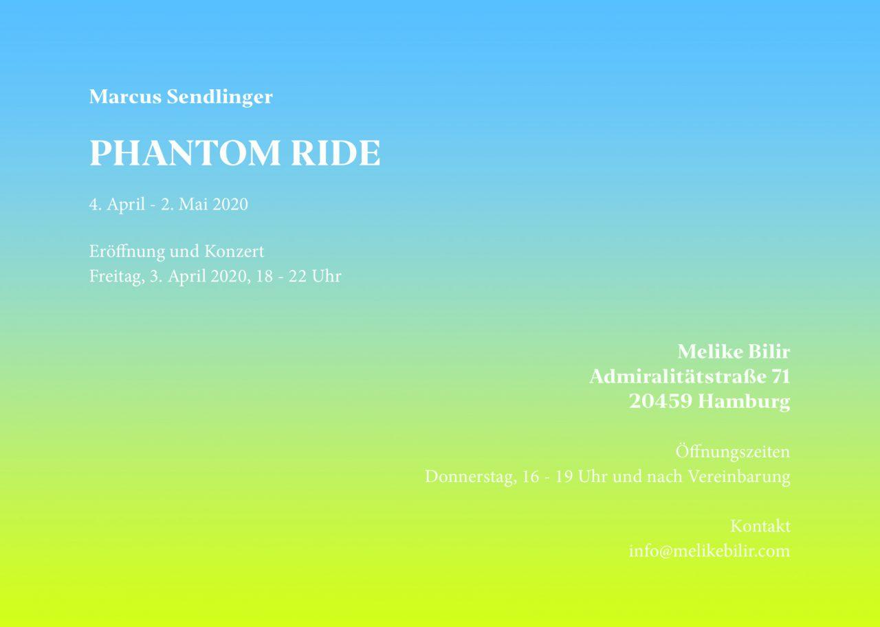 PHANTOM RIDE - Marcus Sendlinger