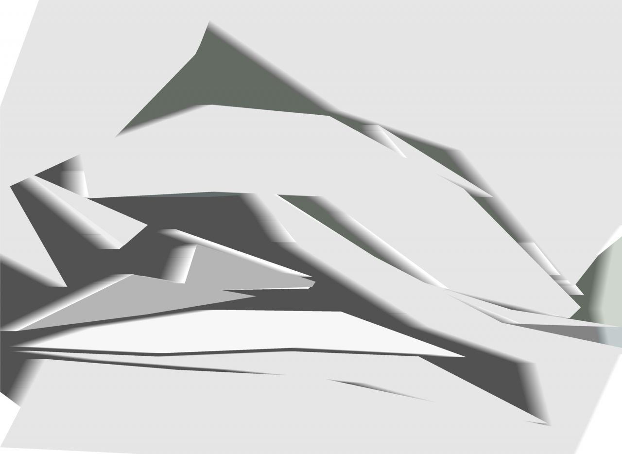 Canyons, Experimental Fine Art Photography, Farbpigment auf Aludibond, matt, 2020, 120 x 88 cm, mit Schattenfuge gerahmt, 3Exempl., rückseitig signiert