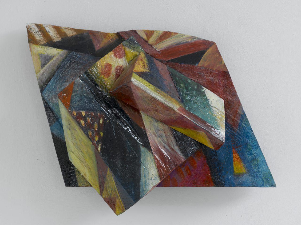 HILLE, 2004 - 2006, Harzöl-Tempera auf Holz, 34 x 40 x 14 cm