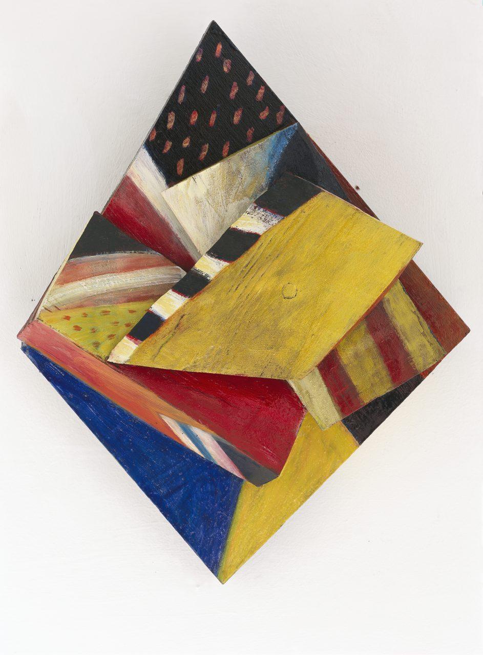 OSSIP, 2001 - 2002, Harzöl-Tempera auf Holz, 35 x 27 x 9 cm