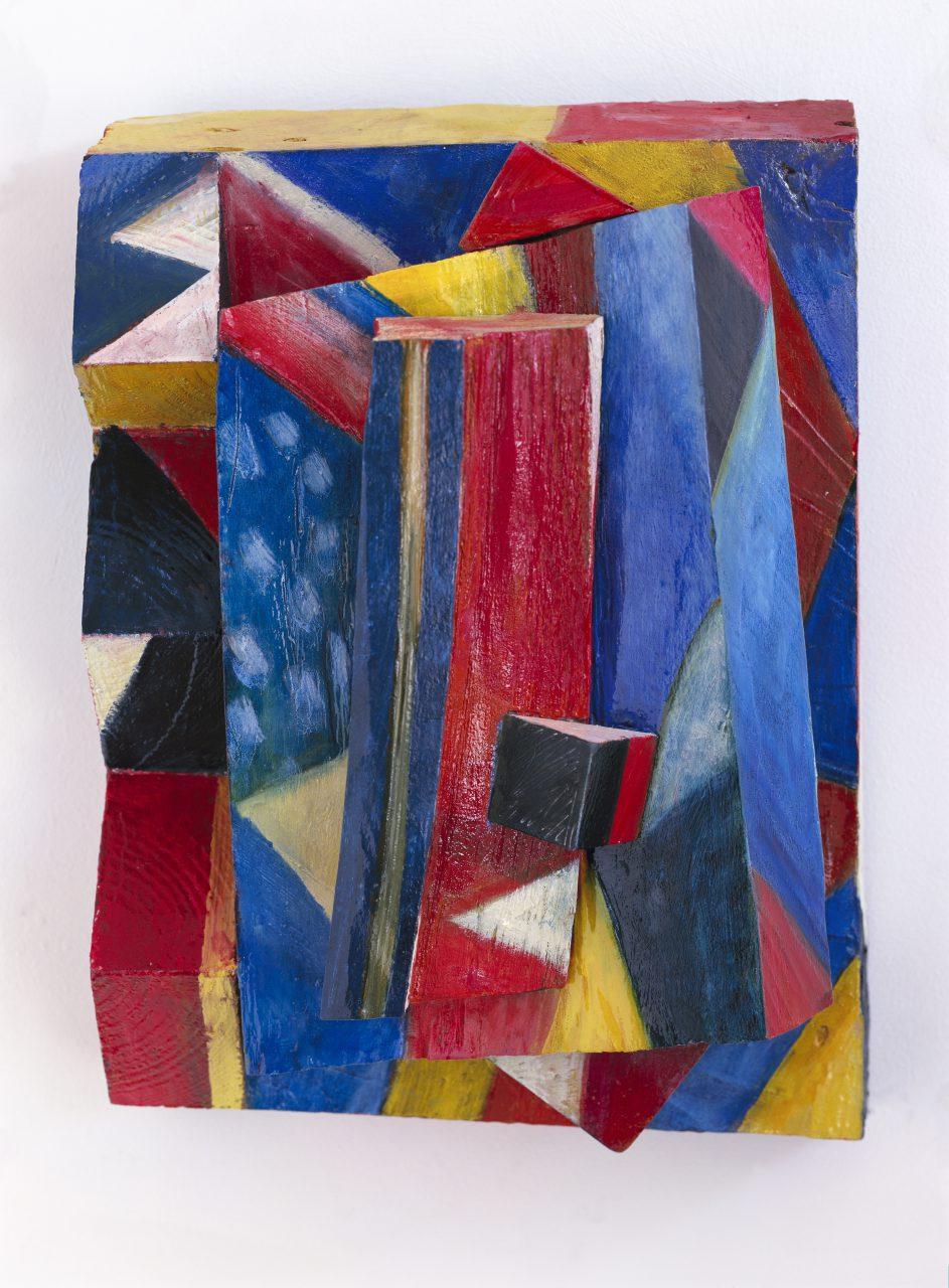 HUGO, 2000 - 2001, Harzöl-Tempera auf Holz, 34 x 25 x 16 cm