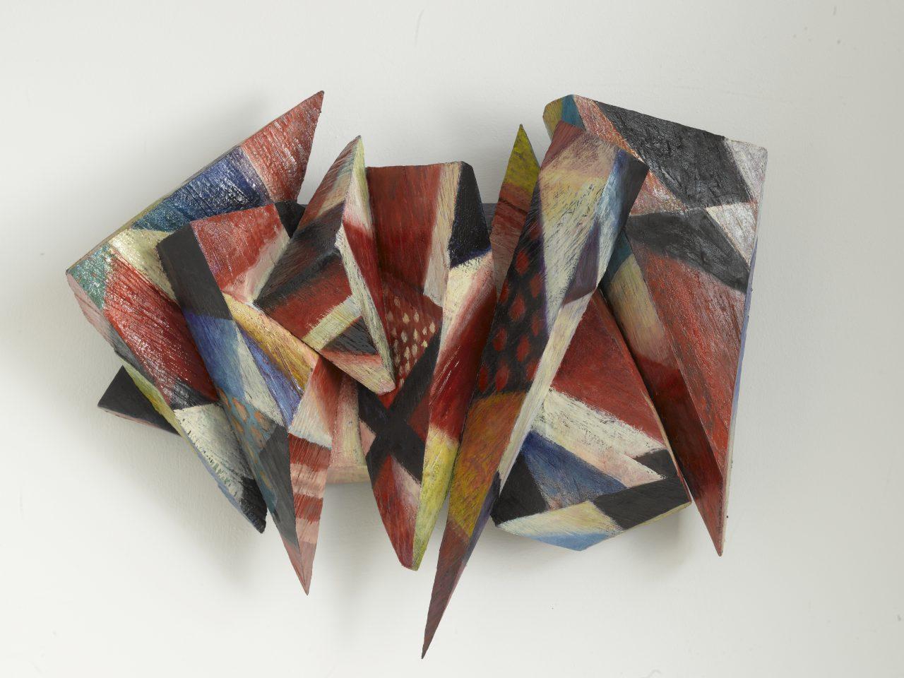 MÄRY, 2010 - 2018, Harzöl-Tempera auf Holz, 45 x 55 x 20 cm