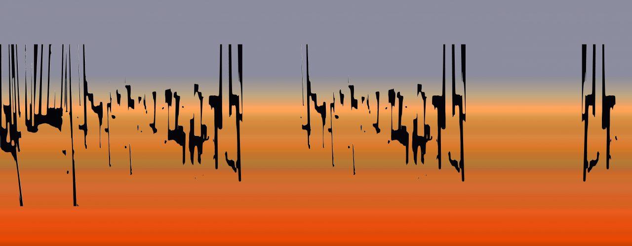 Desert,  Experimental Fine Art Photography, Farbpigment auf Aludibond, matt, 2020, 180 x 70 cm, in dieser Größe und Ausführung ein Unikat, rückseitig signiert, auf Wunsch auch kleiner