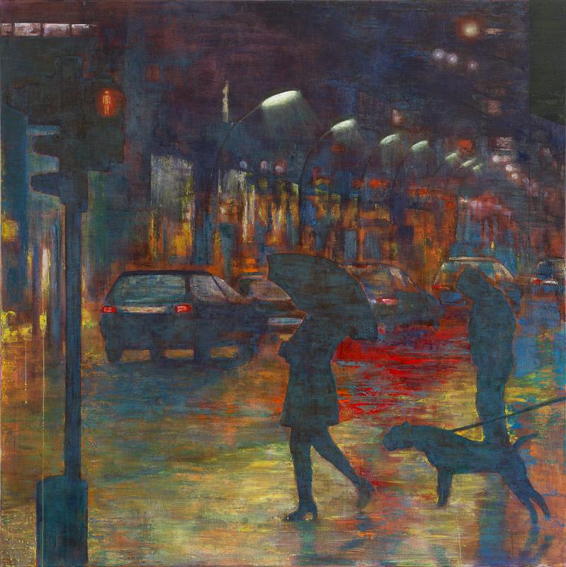 Rotlicht, 2016, 170 x 170 cm, oil on canvas