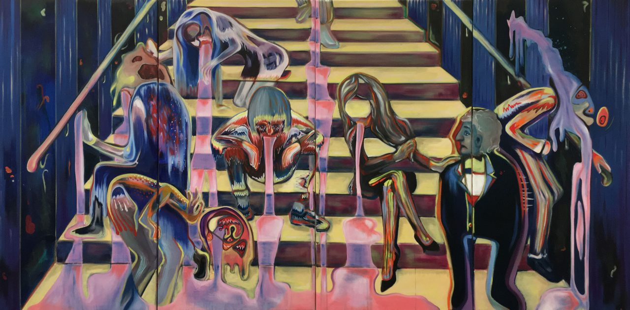We Are The Future - Quattro Formaggi, oil on canvas, 4 x 110 x 55cm (quadriptych), 2019