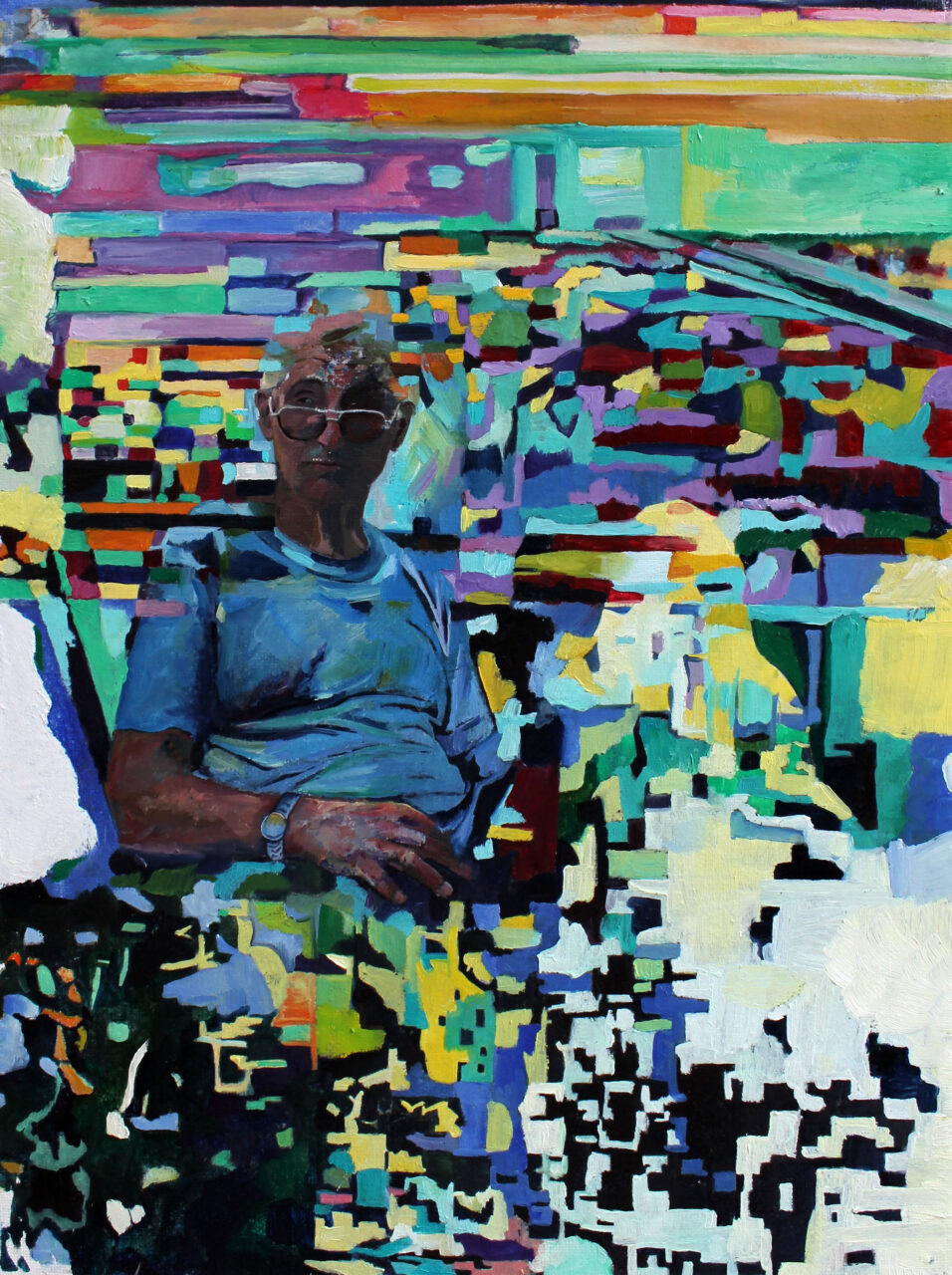 Glitched Memories, 2020, oil on canvas, diptych: 60 x 40 cm