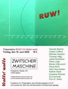 """R U W ! Issue 8 """"Walle!walle"""" Das Künstlermagazin aus Berlin Image"""