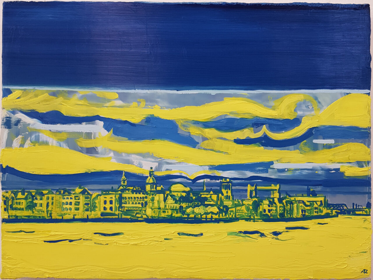 View Of Dordrecht, 2020. Oil on linen, 30x40cm