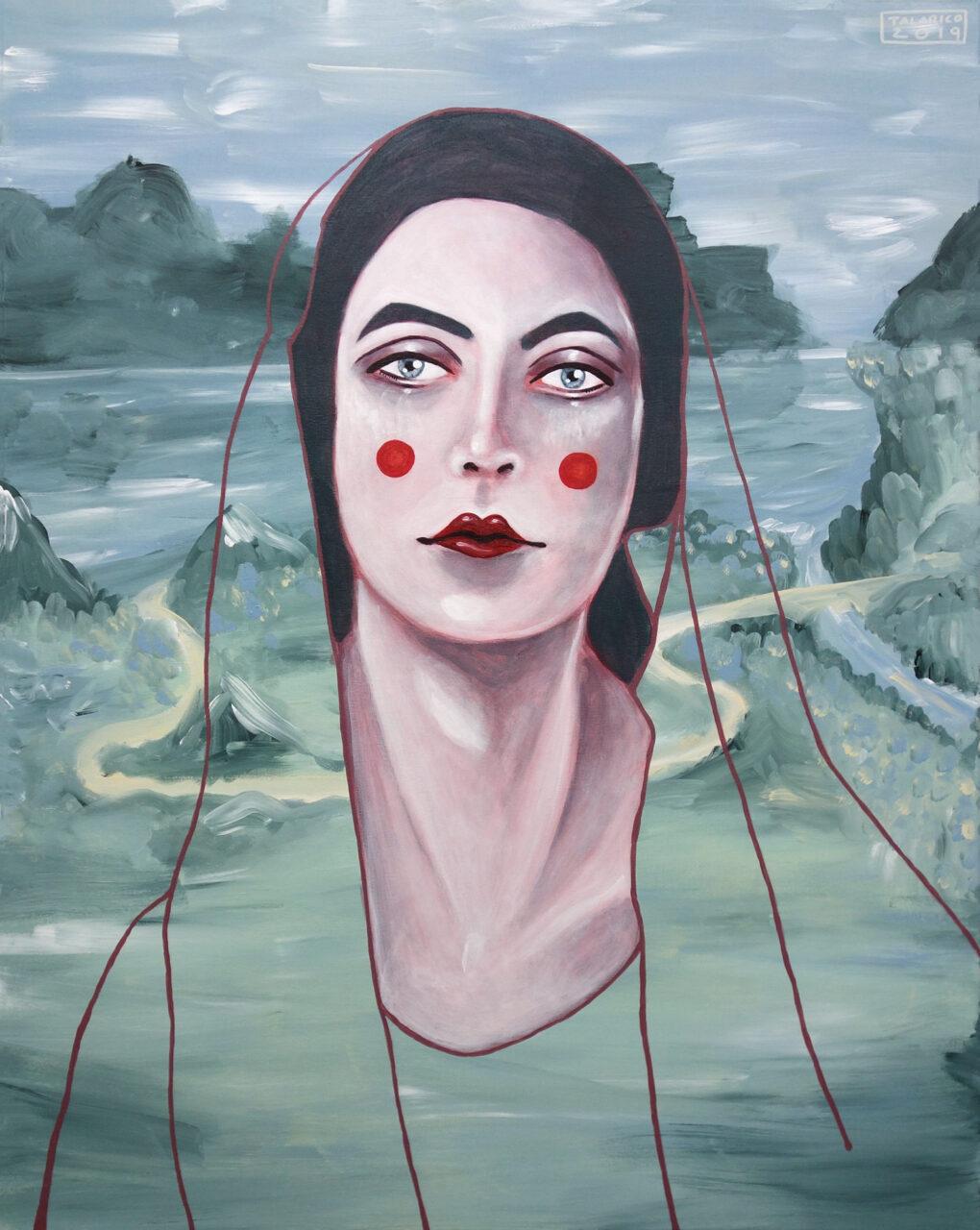 """Blurring Boundaries Between Far And Away #05"" • 80 x 100cm • Acryl on canvas • 2019"