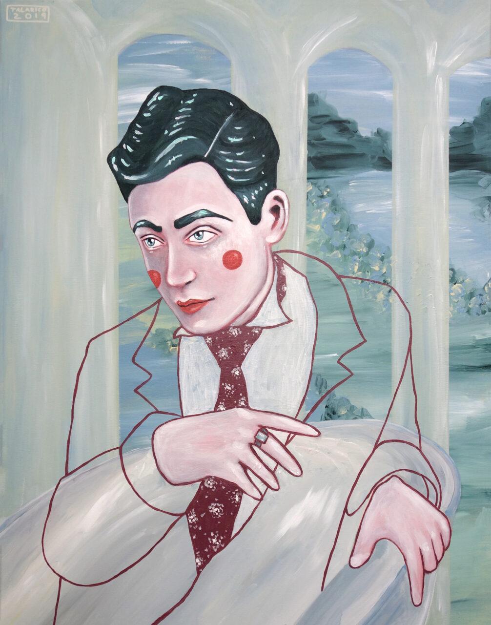 """Blurring Boundaries Between Far And Away #06"" (Self Portrait) • 80 x 100cm • Acryl on canvas • 2019"