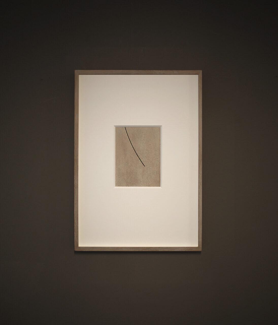 LUNETTE ( I ) 2020, limestone powder on Dibond panel, 44.0 x 32.0 cm