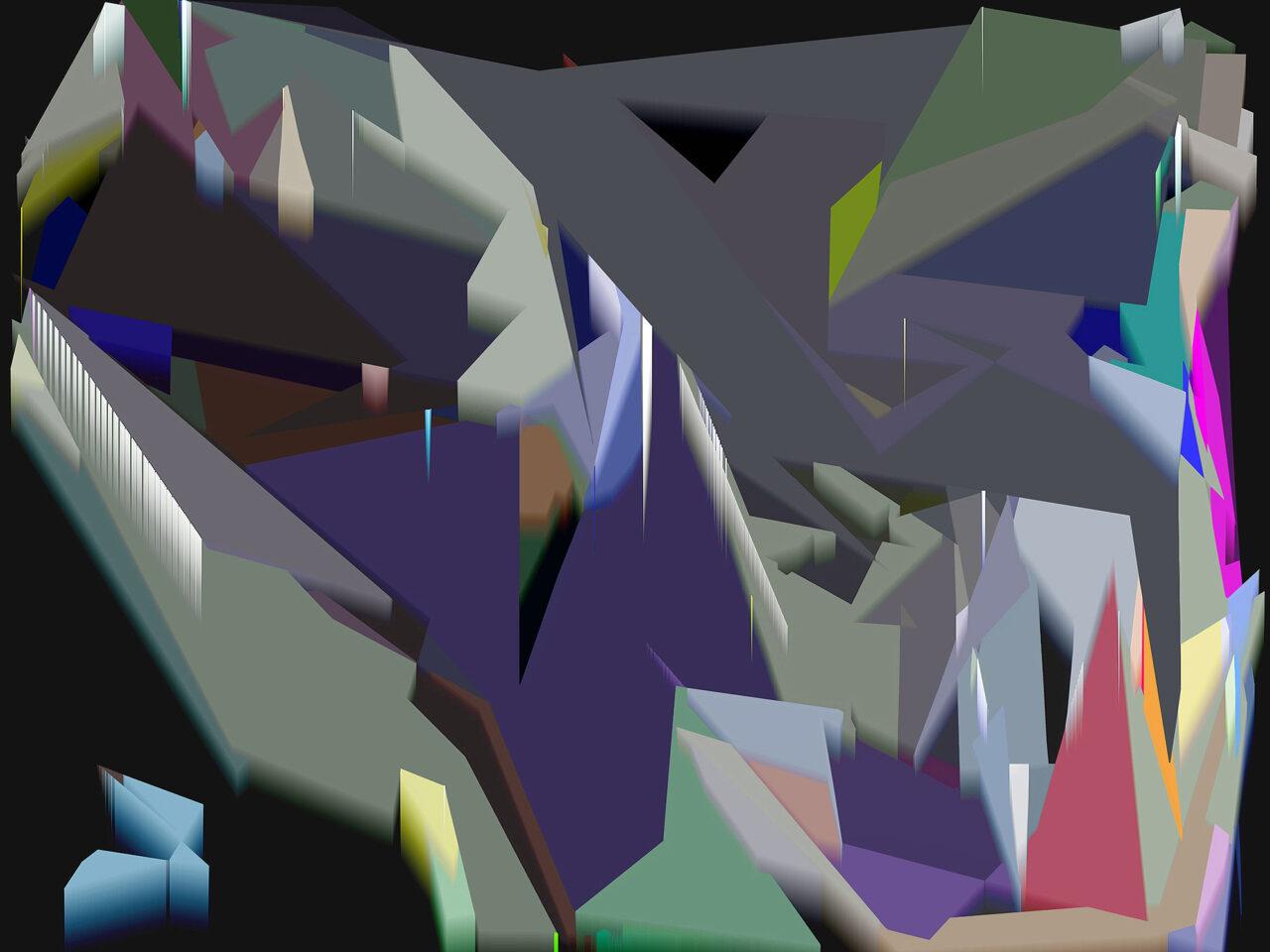 FarbLandschaft2, Experimental Fine Art Photography, Farbpigment auf Aludibond, matt, 2020, 67 cm x 90 cm cm, Unikat, rückseitig signiert, auf Wunsch auch auf Hahnemühlen Baryta und kleiner