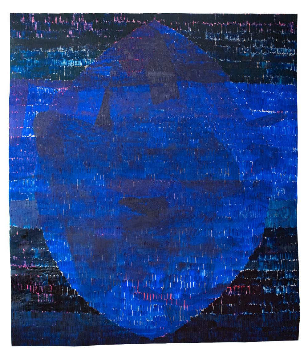 bank mandorla, 2014-2020, mixed media on paper, 220 x 190 cm