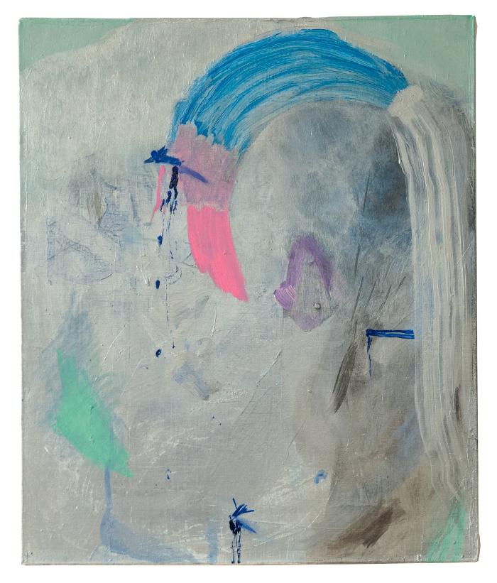 petto di piombo, 2020, mixed media on canvas, 60 x 50 cm