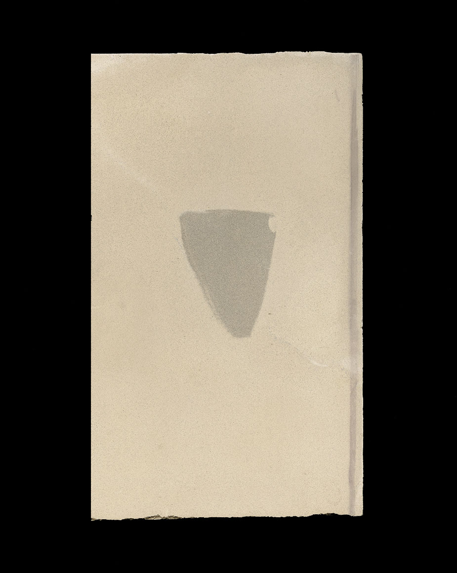 THE SOFT–PRESS OF SILENCE (s.2 no.2) 2020, limestone, raw pigment + mixed media 23.1 x 13.9 cm