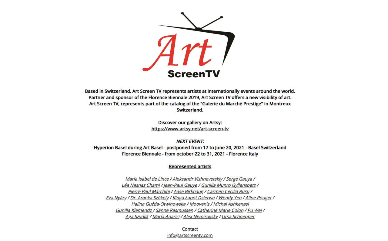ON  ARTSY by Art Screen TV, Switzerland image