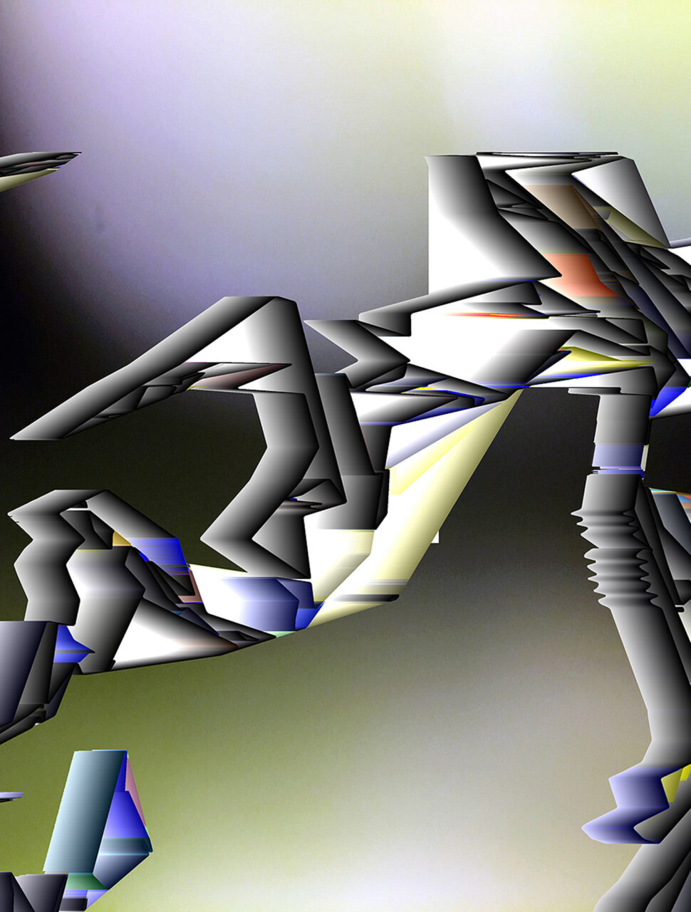 Trance, Mixed Media of Experimental Fine Art Photography, Colorpigment on Aludibond, mat, 2020, 90 x 68 cm, rückseitig signiert, aus der Reihe Unbewusstes Land