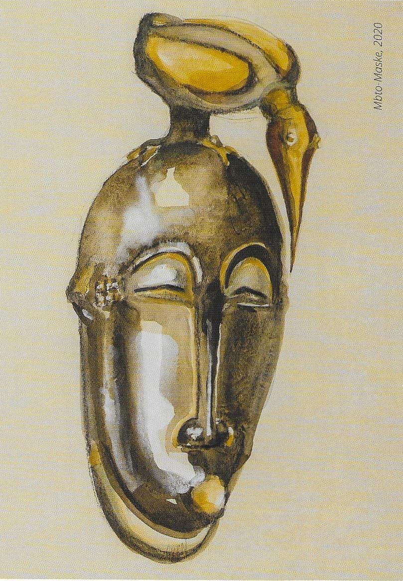 Portrait of a Mask @Kunkel Fine Art.