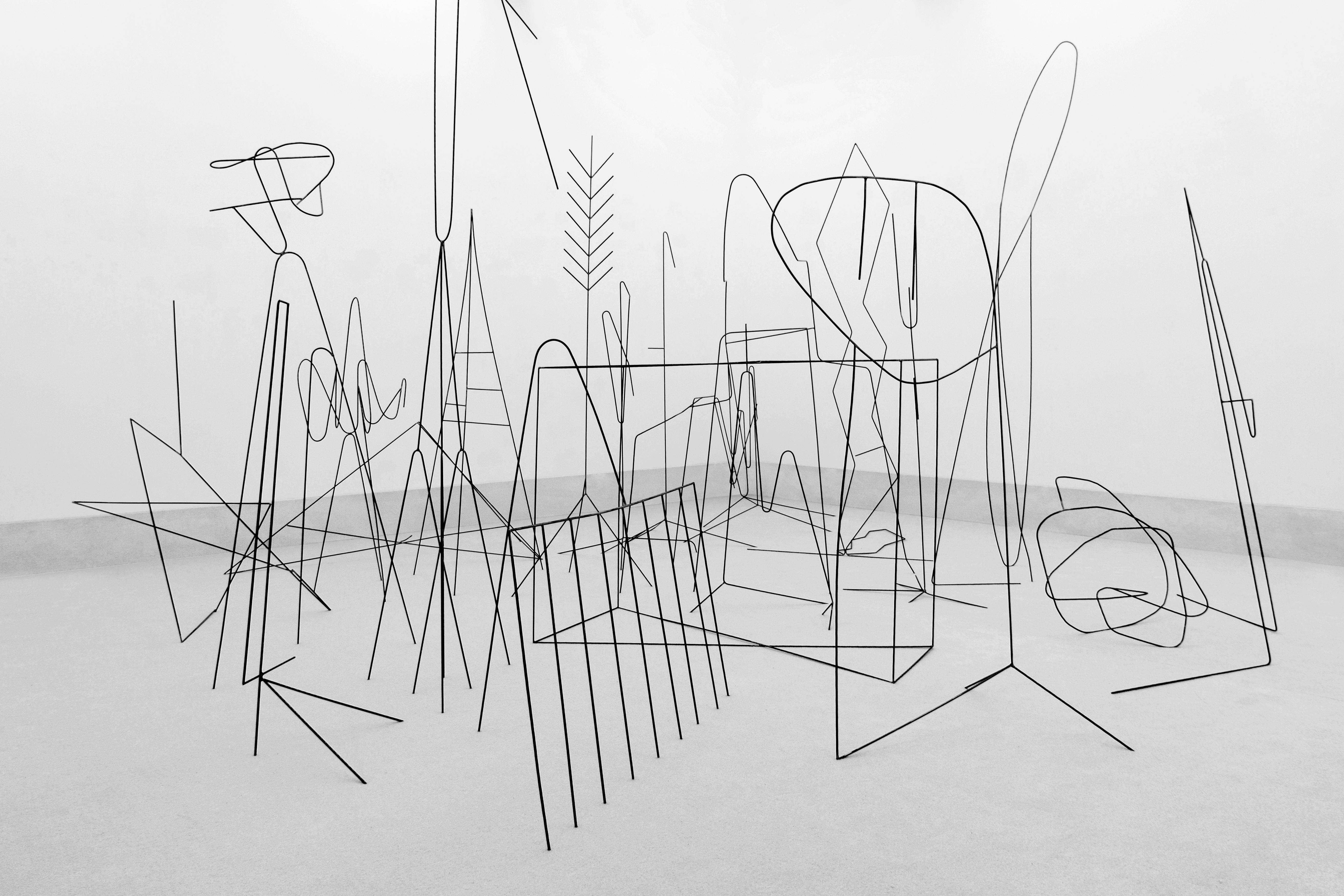 """""""Le Squad"""", 2019, steel, dimensions variable @ Galerie Gisela Clement, Bonn"""