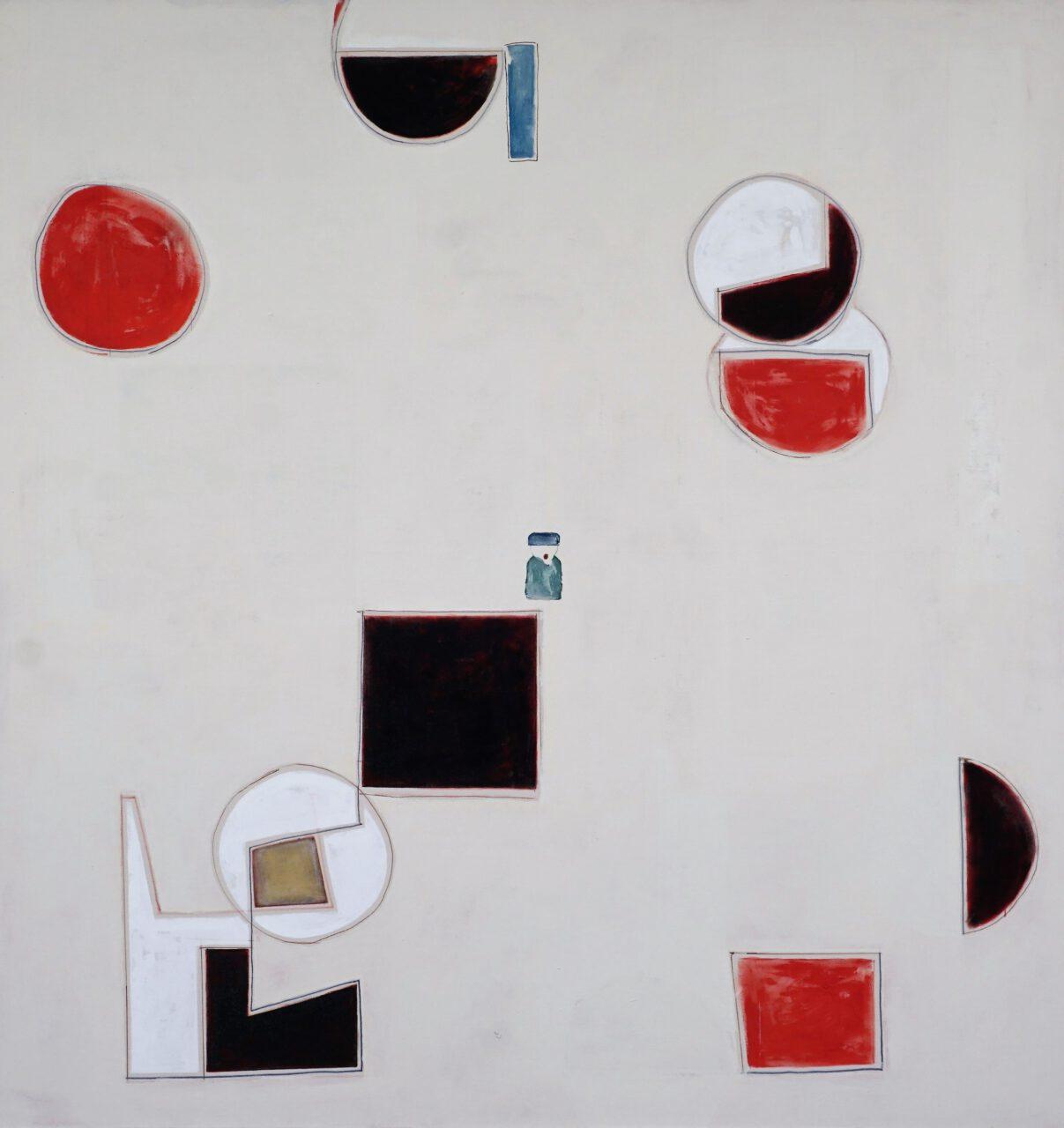 Doppelkreuz Gawriil, 2016-2019, Acrylic, pigments on canvas, 160 x 167,5 cm