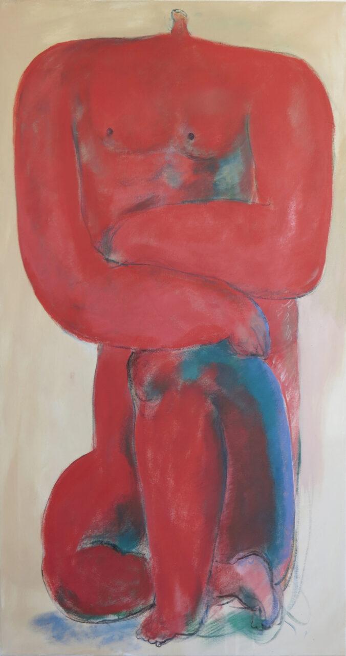 Giorgio, 2020, Öl auf Baumwolle, 150 x 80 cm