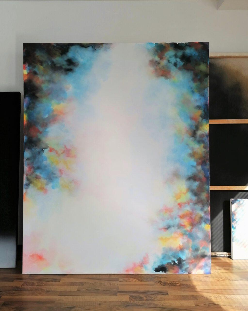 Dome Painting (7) / 2020 / 210 cm x 170 cm / Aquarelle & Gouache, canvas