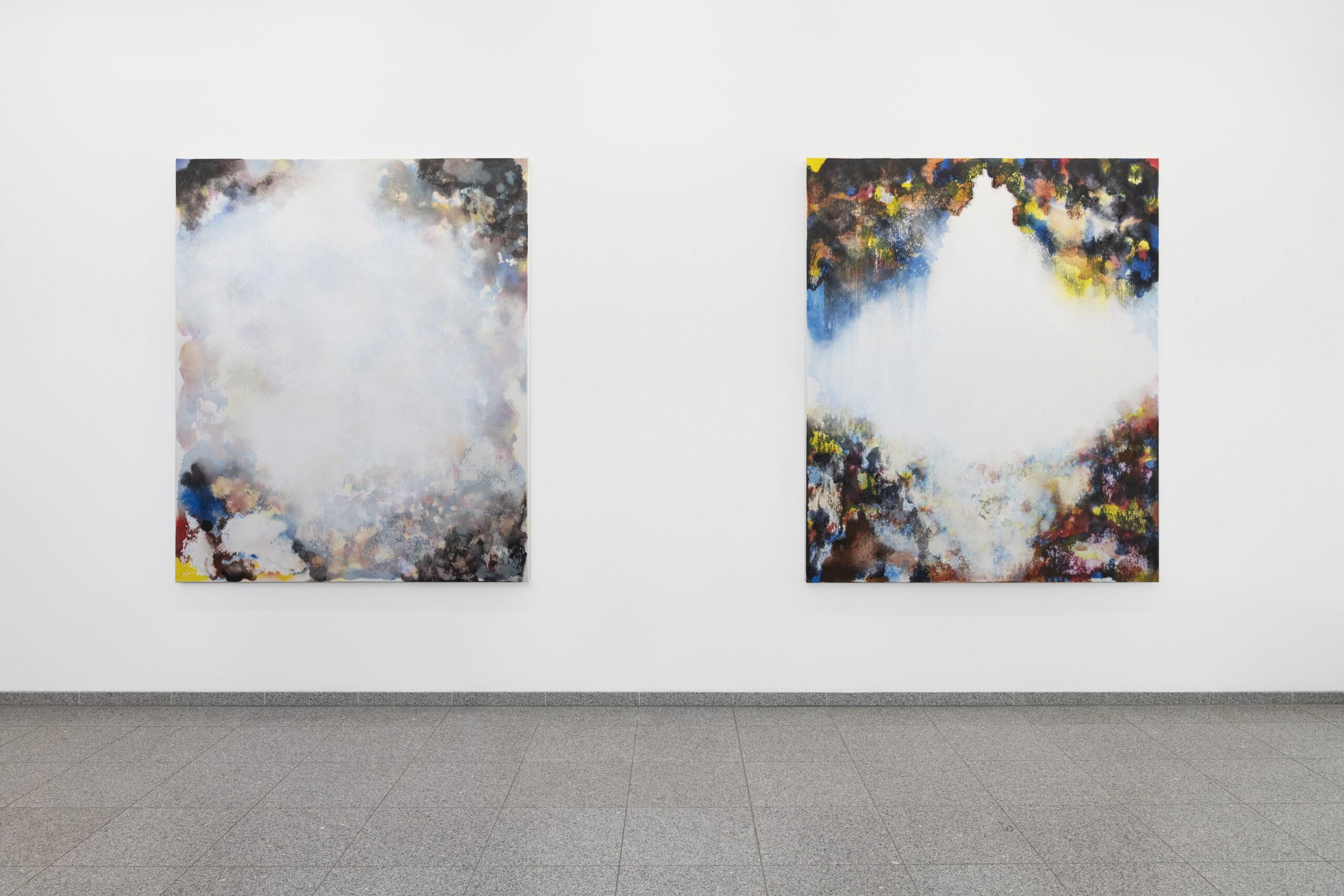 Dome Paintings (1) & (3) / 2020 / 180 cm x 150 cm / Indian ink, Aquarelle, Gouache, canvas