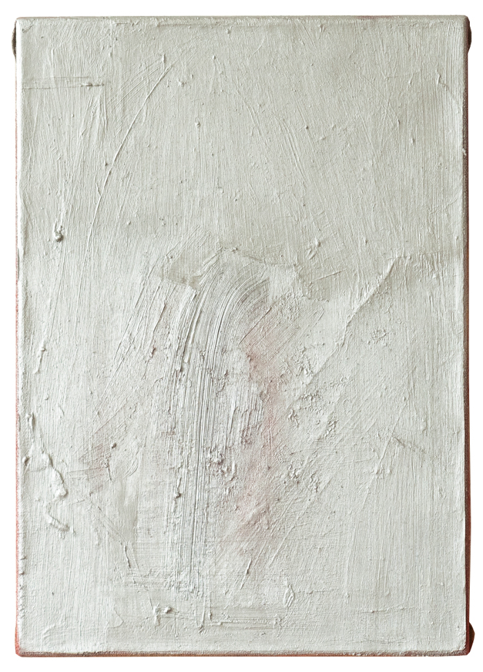fontana, 2014 - 2020, mixed media on paper and linen, 50 x 35 cm