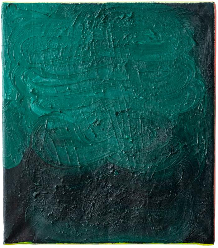 giri, 2014 - 2020, oil on paper, 40 x 35 cm