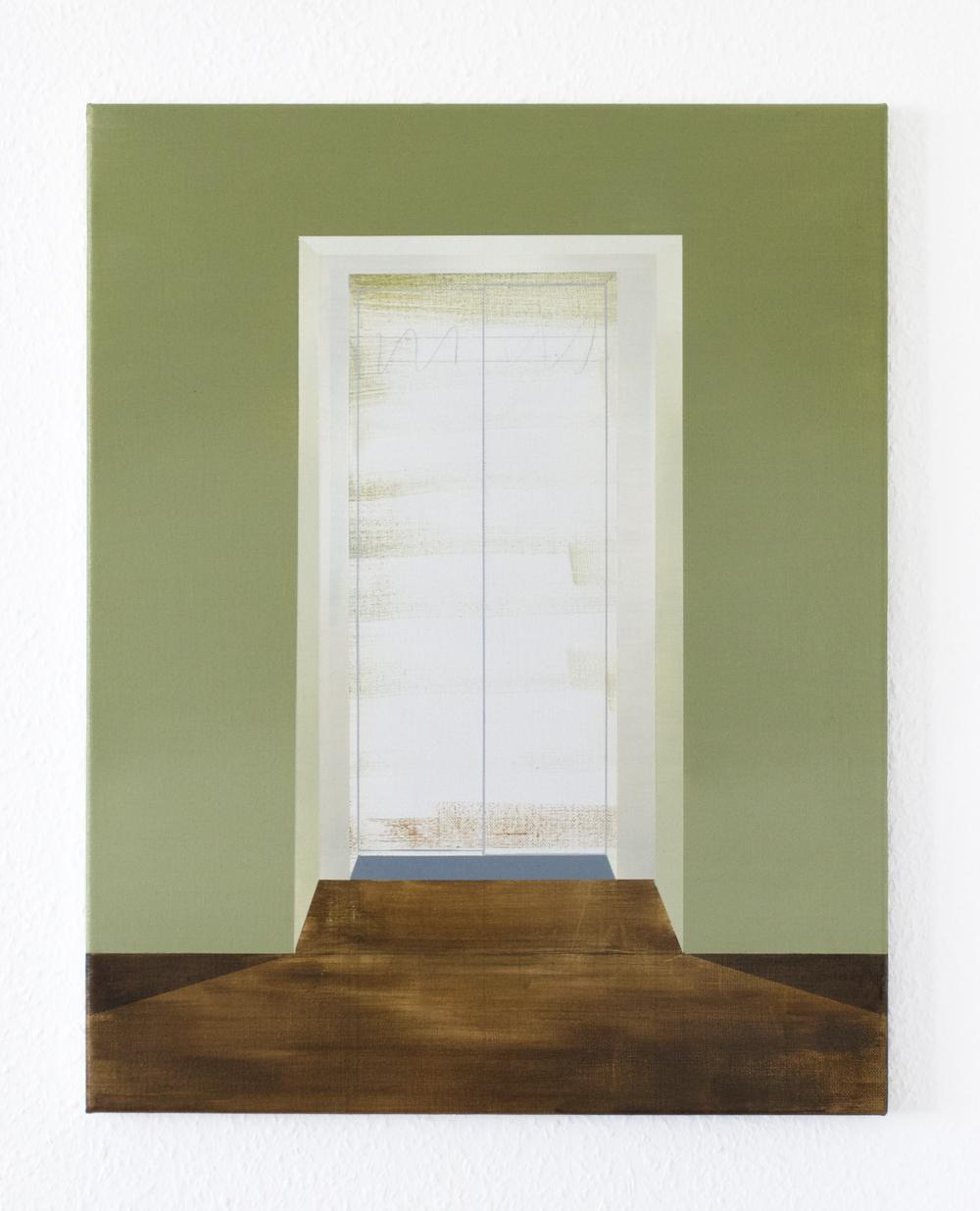 Fahrstuhl, 2020, oil on canvas, 70 x 50 cm