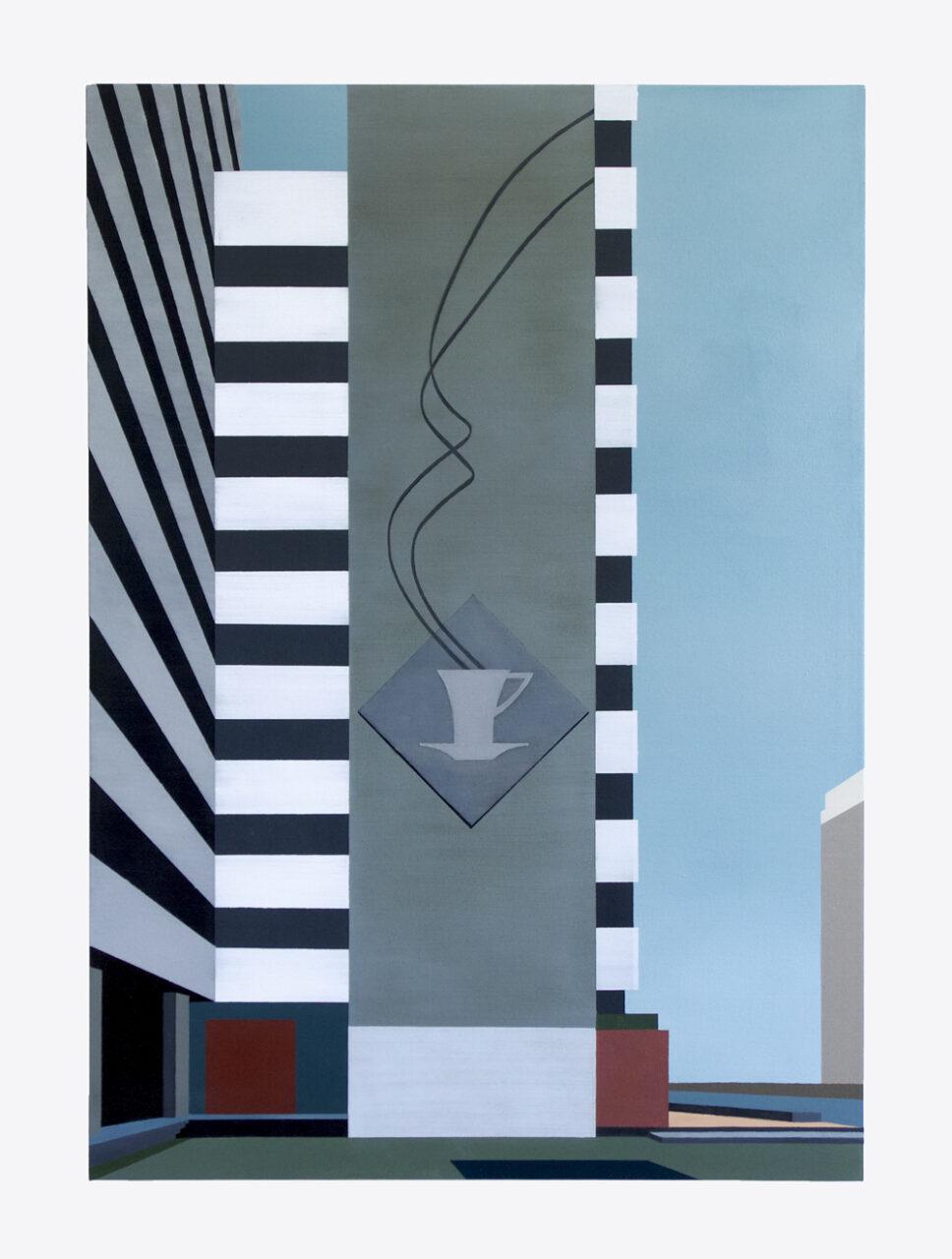 Mokka-Eck, 2020, oil on canvas, 100 x 70 cm