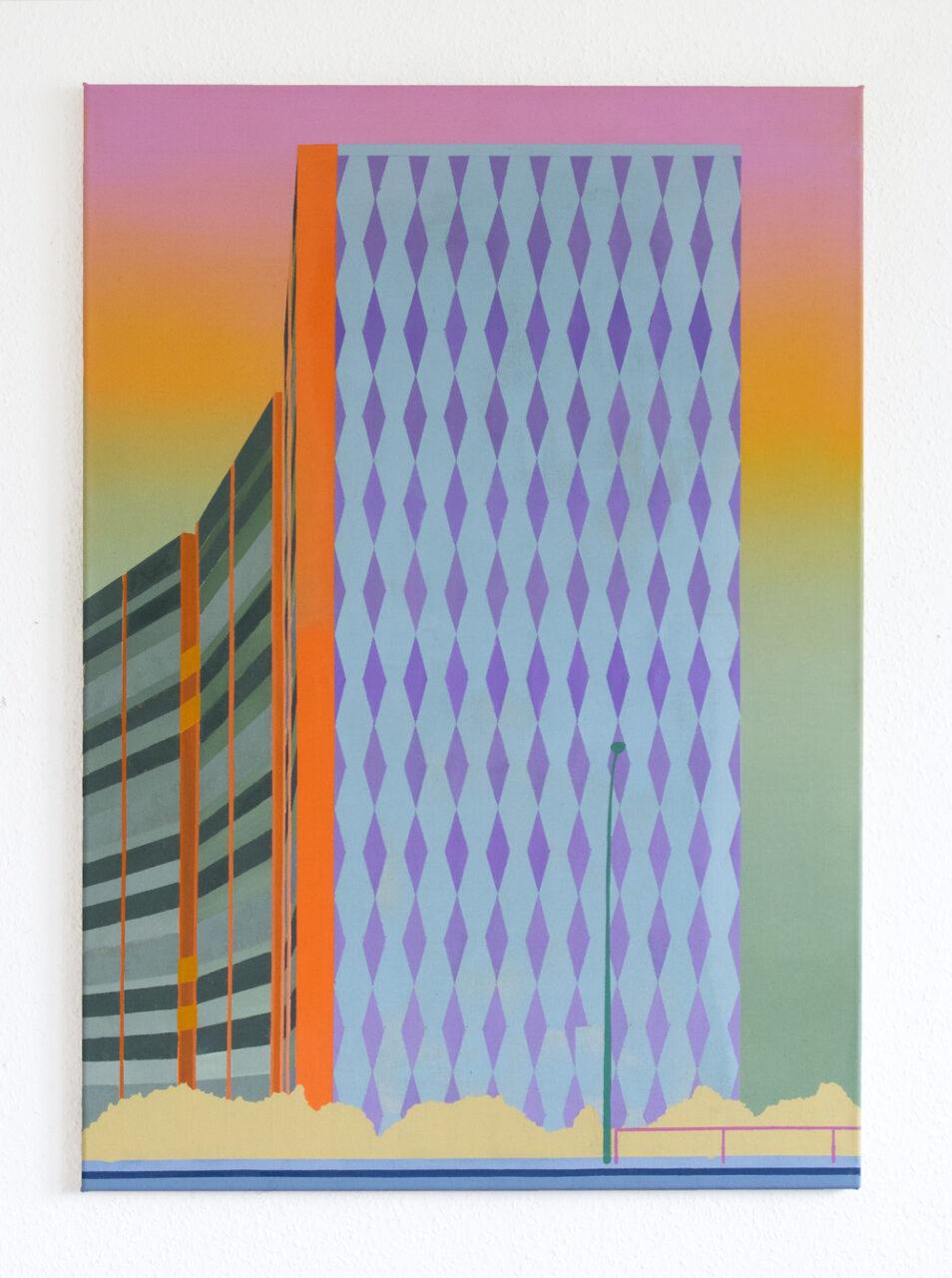 Wohnscheibe, 2020, oil on canvas, 100 x 70 cm