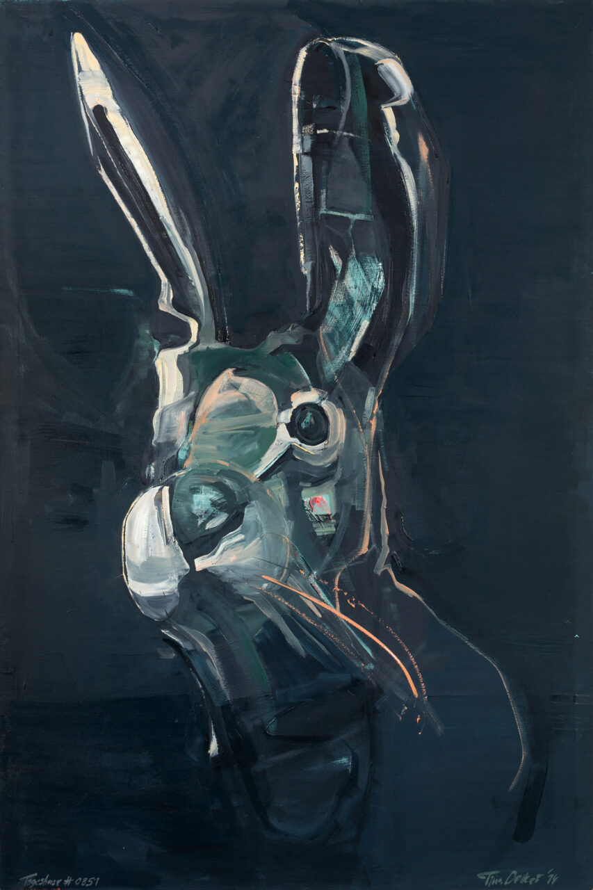Tageshase # 0851, oil on canvas, 195 x 130 cm