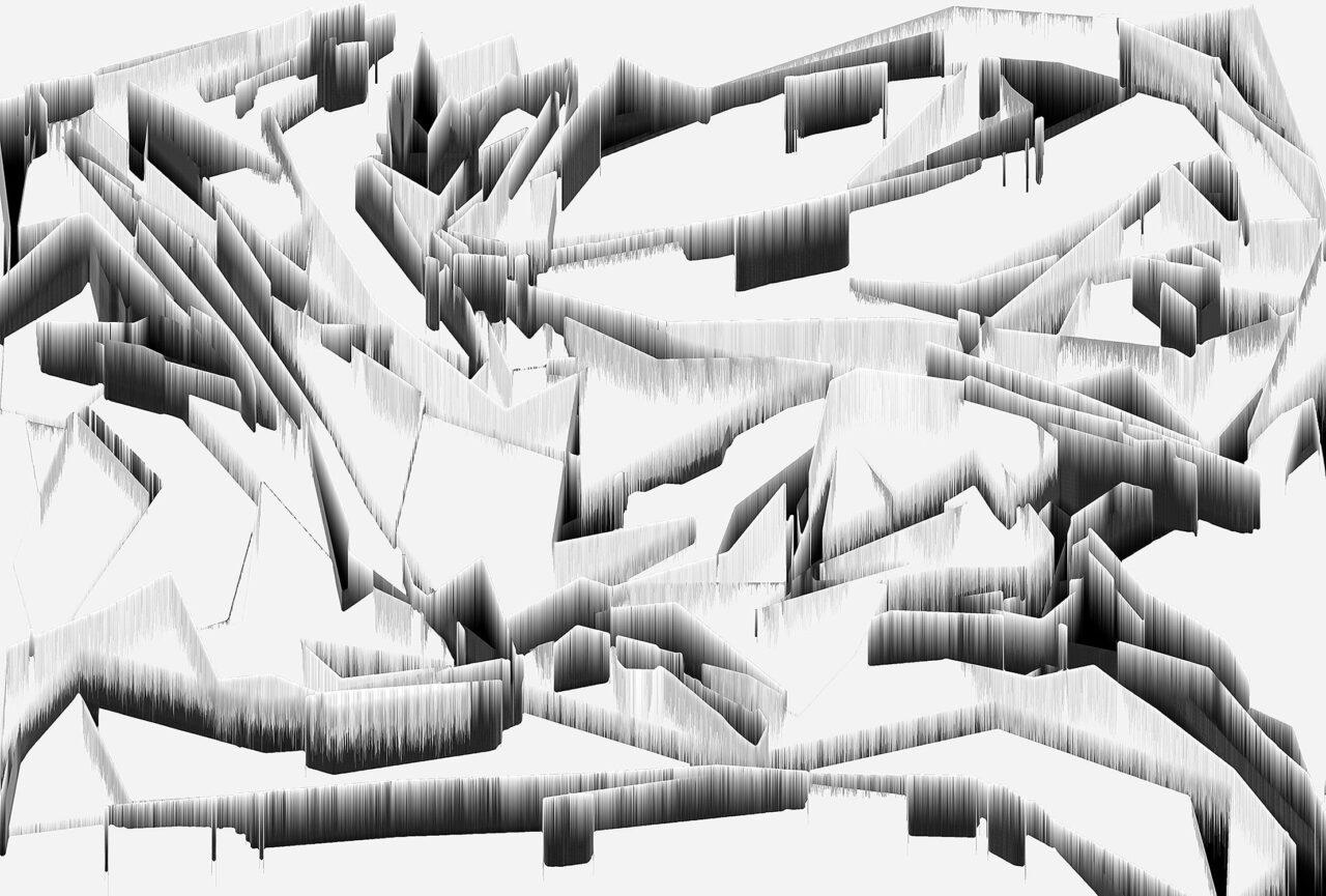 Bruchschollen, 2021, Experimental Fine Art Photography, 61 x 90 cm, Aludibond, matt, mit Schattenfuge gerahmt, signiert, Auflage 1/3, aus der Reihe Virtuelle Landschaften