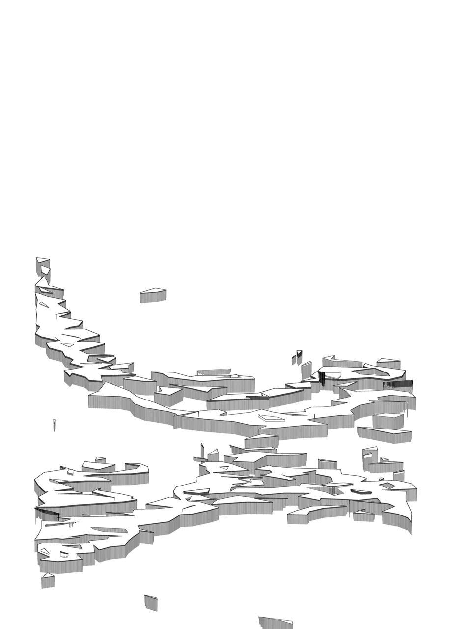 Eislandschaft, 2021, Experimental Fine Art Photography, on Aludibond, gebürstet, 75 cm x 53 cm, mit Schattenfuge gerahmt,  signiert, aus der Reihe Virtuelle Landschaften
