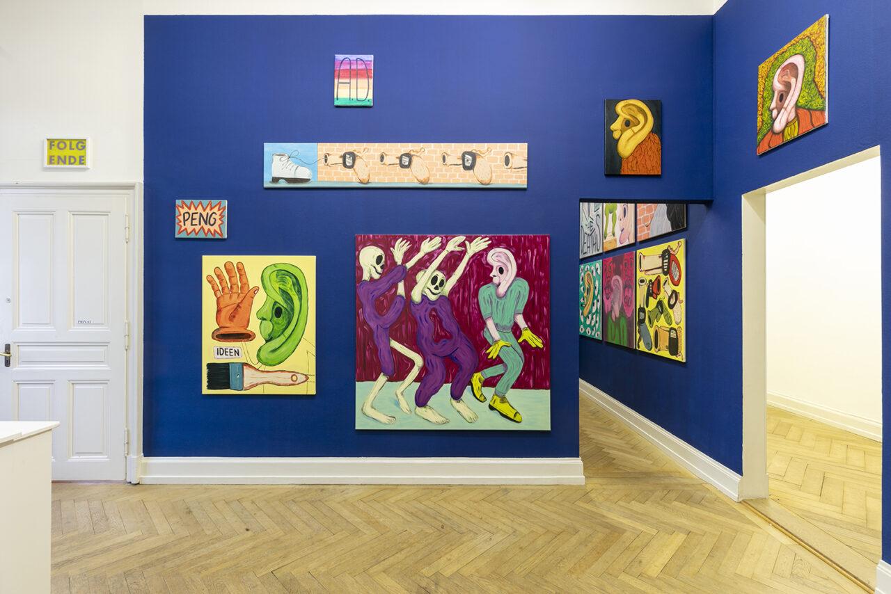 Exhibition view: WHY SO SERIOUS?, Kunsthalle Palazzo, Liestal, Switzerland (Foto: © Julian Salinas)