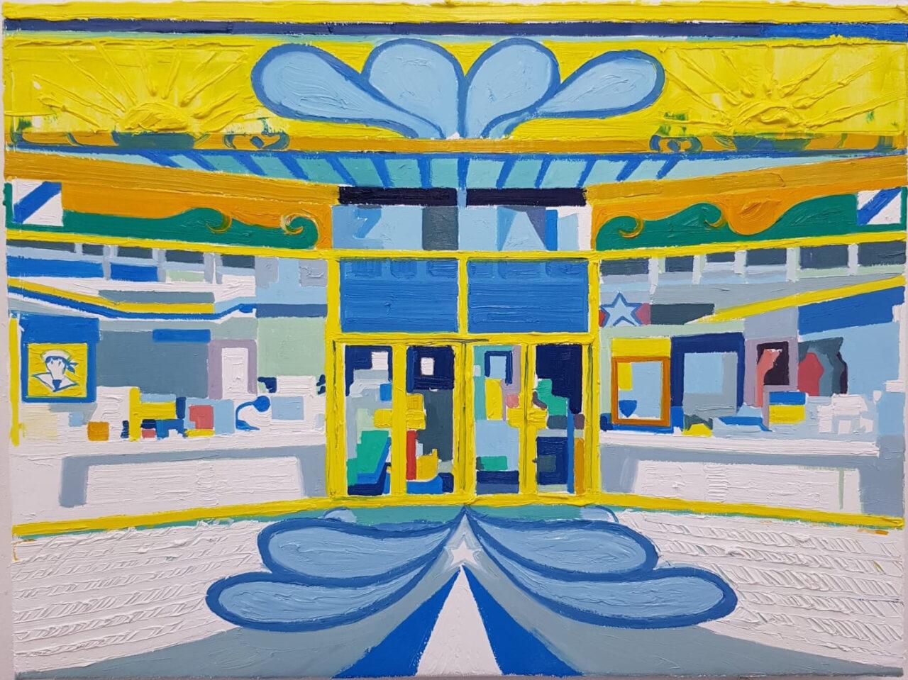 Shop Window (Zeeman filiaal) 2021. Oil on linen, 30x40cm