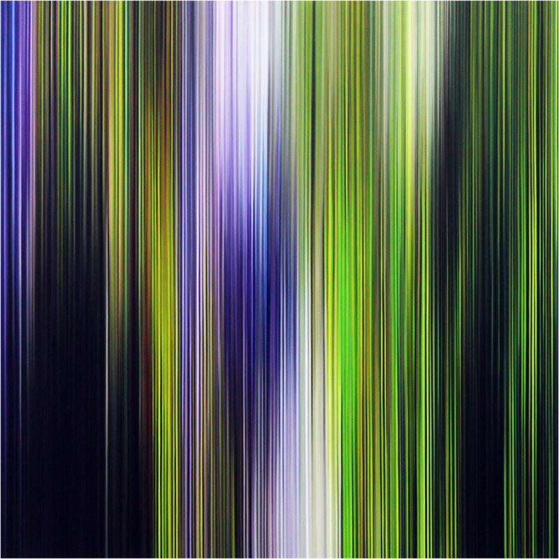 Light'n'Lines No. 18 (Nocturne) , 2021, Oil on Alu-Dibond, 80 x 80cm