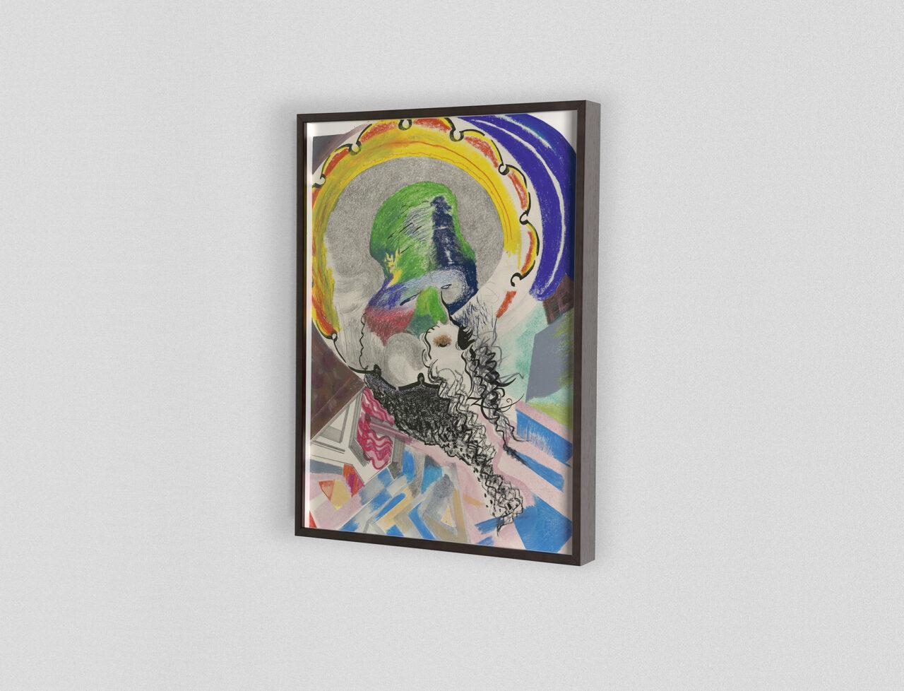 2020 | 180 x 137 x 6,2 cm. Acrylic paint and oil paint on dibond