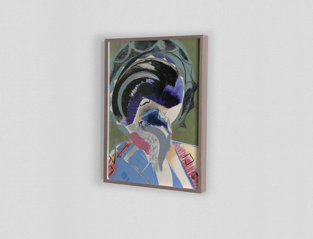 Icon #033 2020 | 40,5 x 29,8 cm. Mixed media on paper