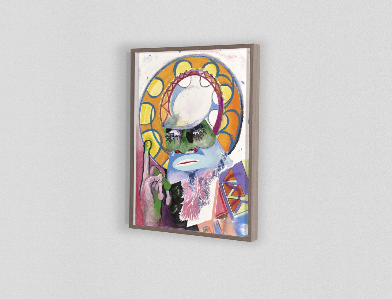 Icon #035 2020 | 40,5 x 29,8 cm. Mixed media on paper