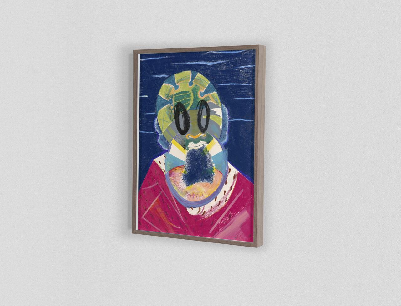Icon #036 2020 | 40,5 x 29,8 cm. Mixed media on paper