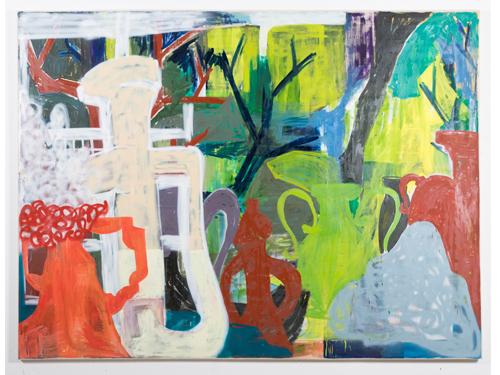 Vasen im Wald (Oil on canvas, 210x280cm / 82,7