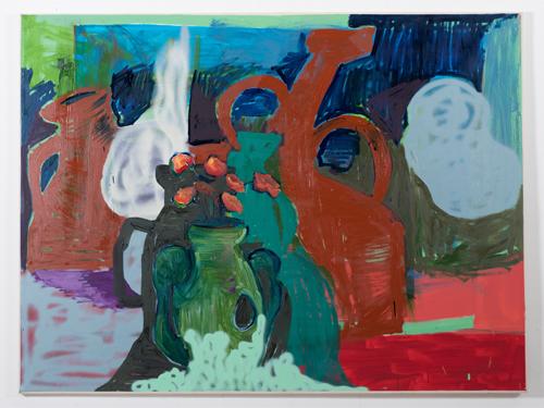 Julianes Arme in grün. (Oil on canvas, 140x180cm / 55,1