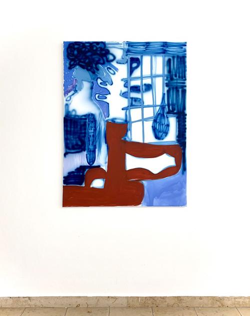 Kater durften, Blüten grauen. At Kunstverein Augsburg (Oil on canvas, 120x90cm / 47,25