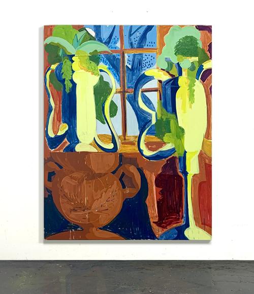 Winterdraum (Oil on canvas, 180x140cm / 70,9
