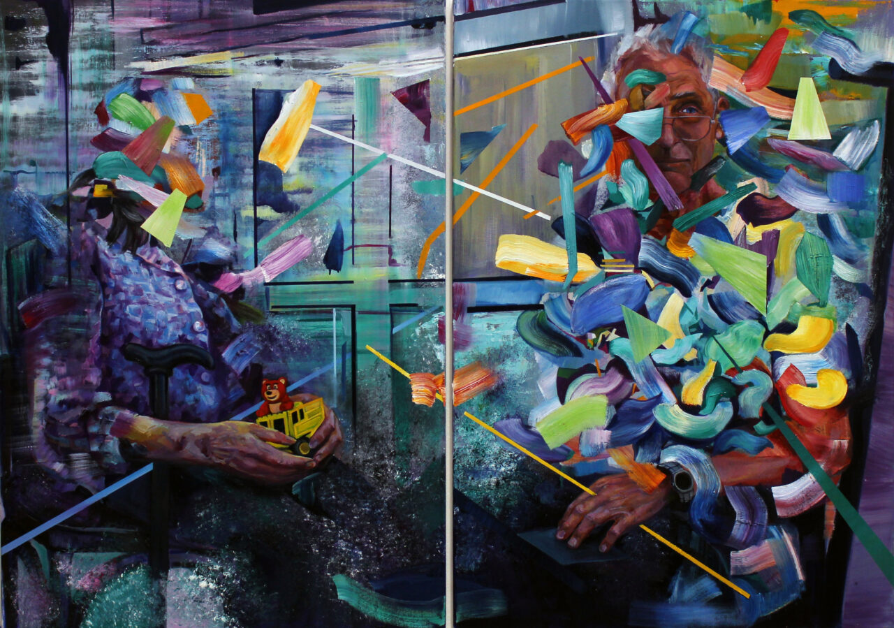 The Silent Generation, 2021, oil on canvas, diptych, 100x140cm