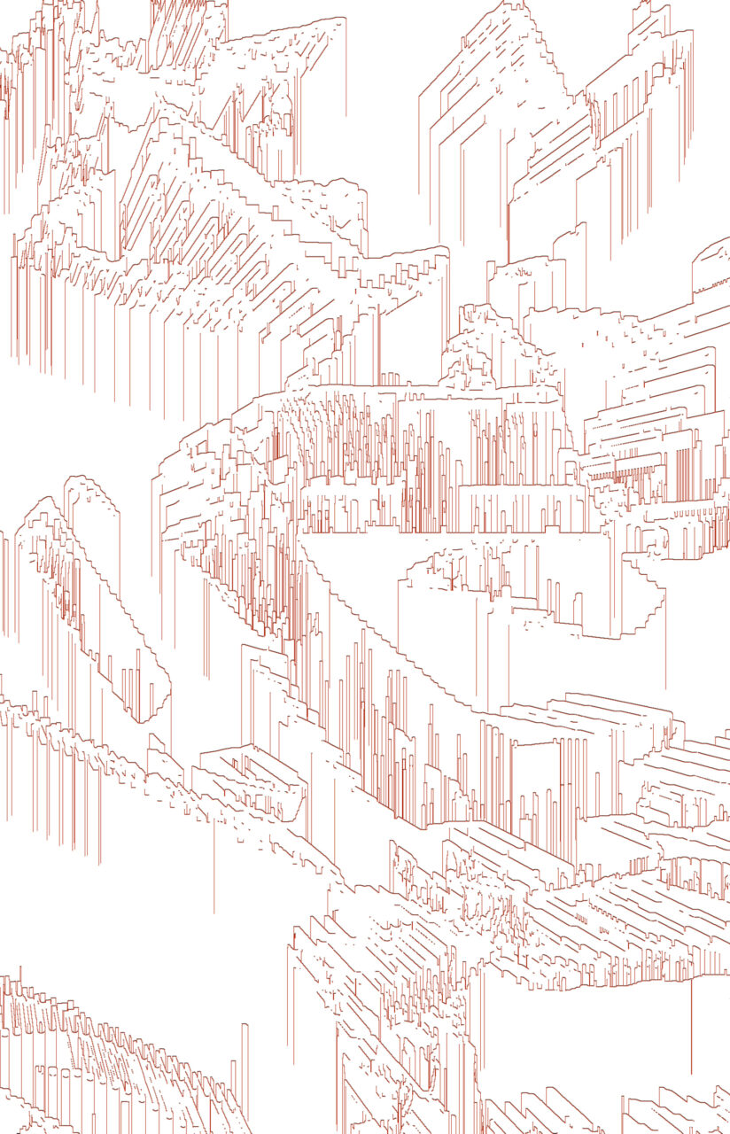 Ländlicher Raum, 2021, Experimental Fine Art Photography, Mixed Media, das heißt, es ist keine Grafik, keine Zeichnung, die Arbeit wurde aus einer Fotografie herauskristalisiert, Bildgröße 90 cm x 60 cm, Farbpigment auf Aludibond, mit Schattenfuge, 1/3, rückseitig signiert, auf Wunsch auch auf Hahnemühlen Papier