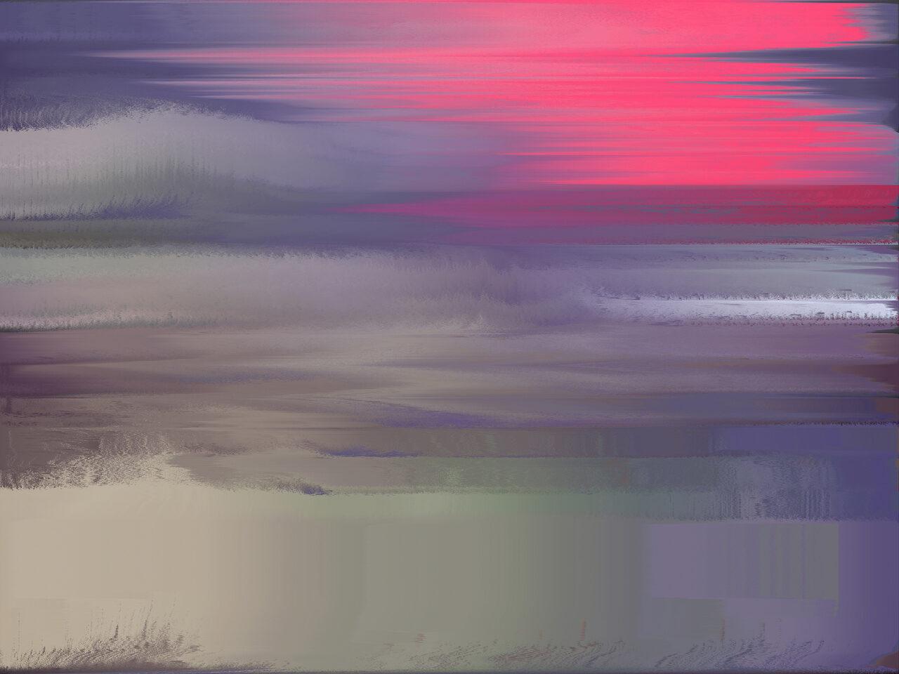 Abendrot, 2021, Experimental Fine Art Photography, Mixed Media, 56 cmx 75 cm, Farbpigment auf Aludibond mit Schattenfuge, rückseitig signiert